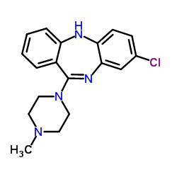 Structure du clozapine
