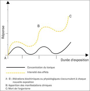 Figure 3.6. Toxicité chronique due à une sommation d'effets toxiques